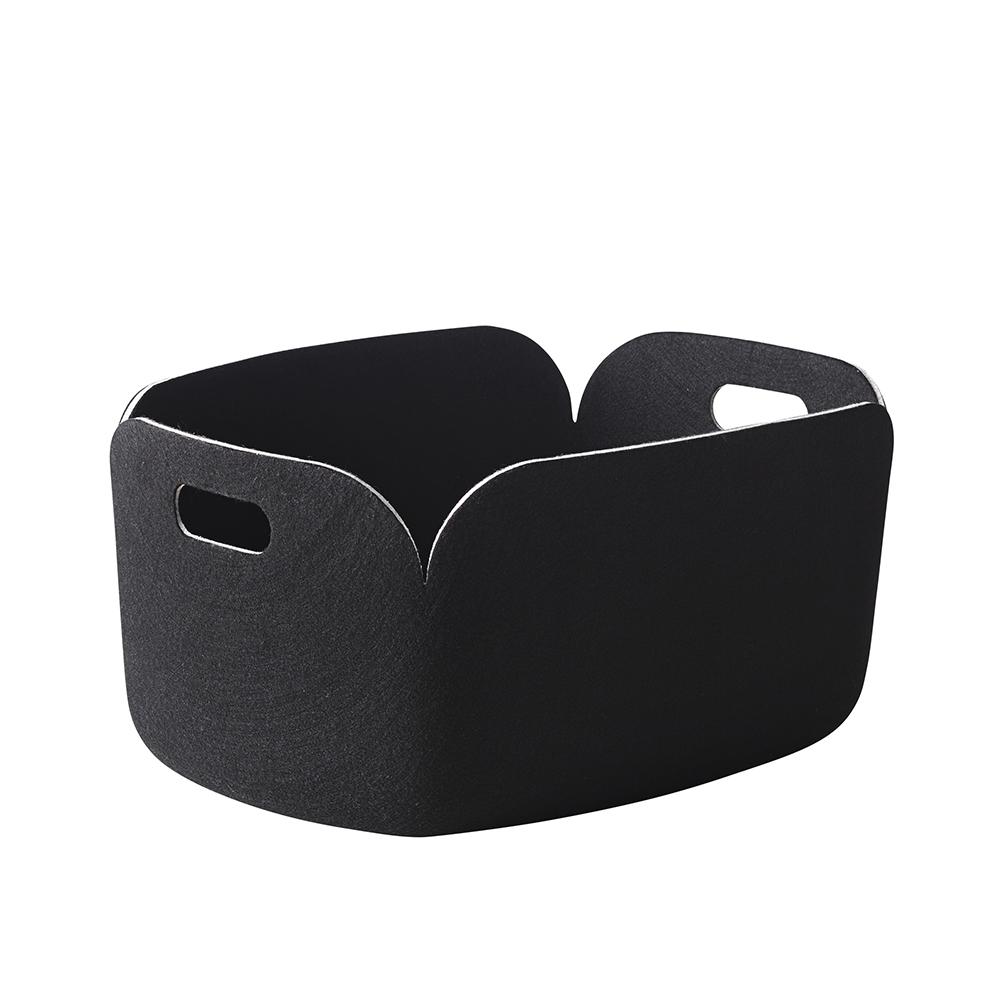 panier de rangement restore noir muuto pour chambre. Black Bedroom Furniture Sets. Home Design Ideas