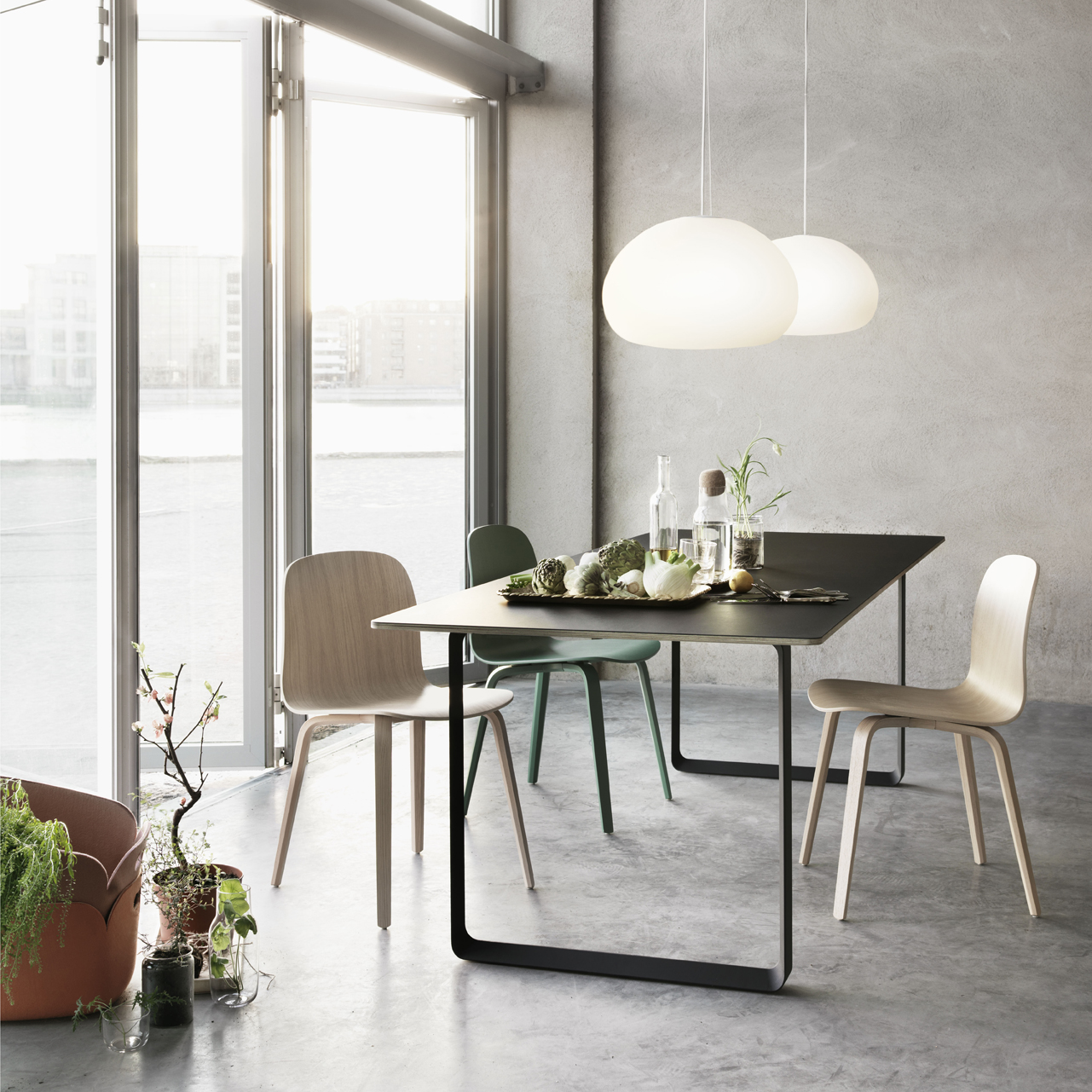 Suspension Muuto. Excellent Large Pendant Light Under The Bell Grey ...