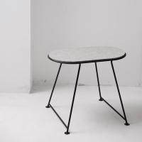 Table Capsule en feutre - Gris clair