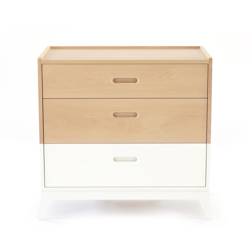 Commode 3 tiroirs horizon blanc nobodinoz pour chambre enfant les enfants - Commode 3 tiroirs blanc ...