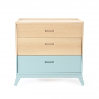 Commode 3 tiroirs - Vert Tropical