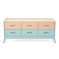 Commode 6 tiroirs - Vert Tropical