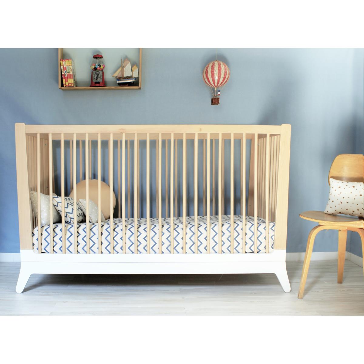 Lit bébé Horizon - Blanc Nobodinoz pour chambre enfant - Les ...