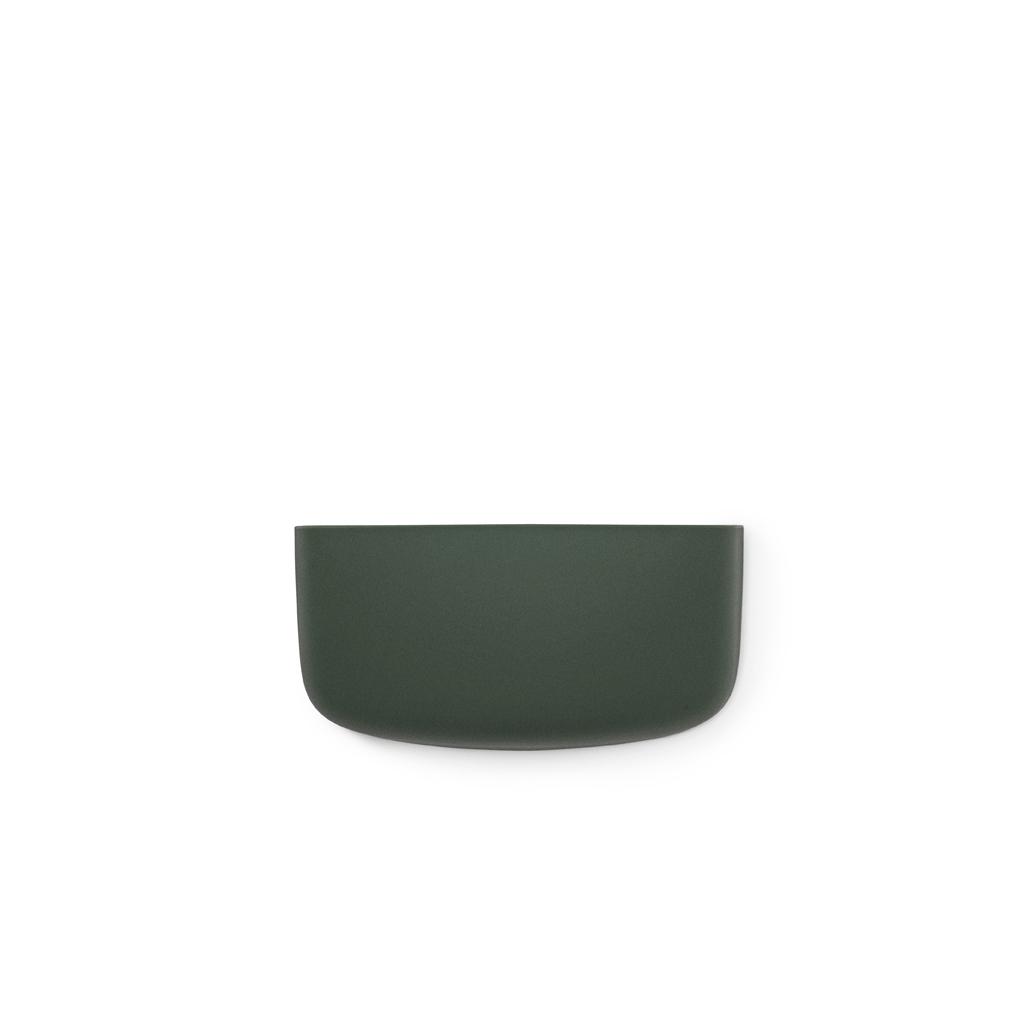 Vide poche mural pocket 1 vert sombre normann copenhagen for Vide poche mural plastique