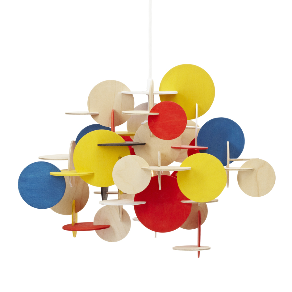 Suspension bau multicolore normann copenhagen pour chambre enfant les enfants du design for Luminaire multi suspension colore enfant