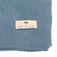 Couverture Bou en tricot - Bleu paradis