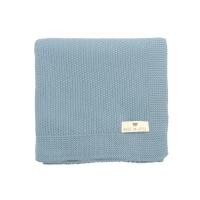 Couverture Bou en tricot - Bleu Hiver