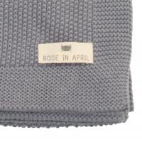 Couverture Bou en tricot - Gris tornade