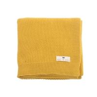 Couverture Bou en tricot - Jaune Ceylan