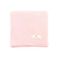 Couverture Bou en tricot - Rose clair