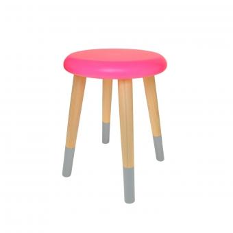 tabouret enfant alice rose fluo rose in april pour chambre enfant les enfants du design. Black Bedroom Furniture Sets. Home Design Ideas