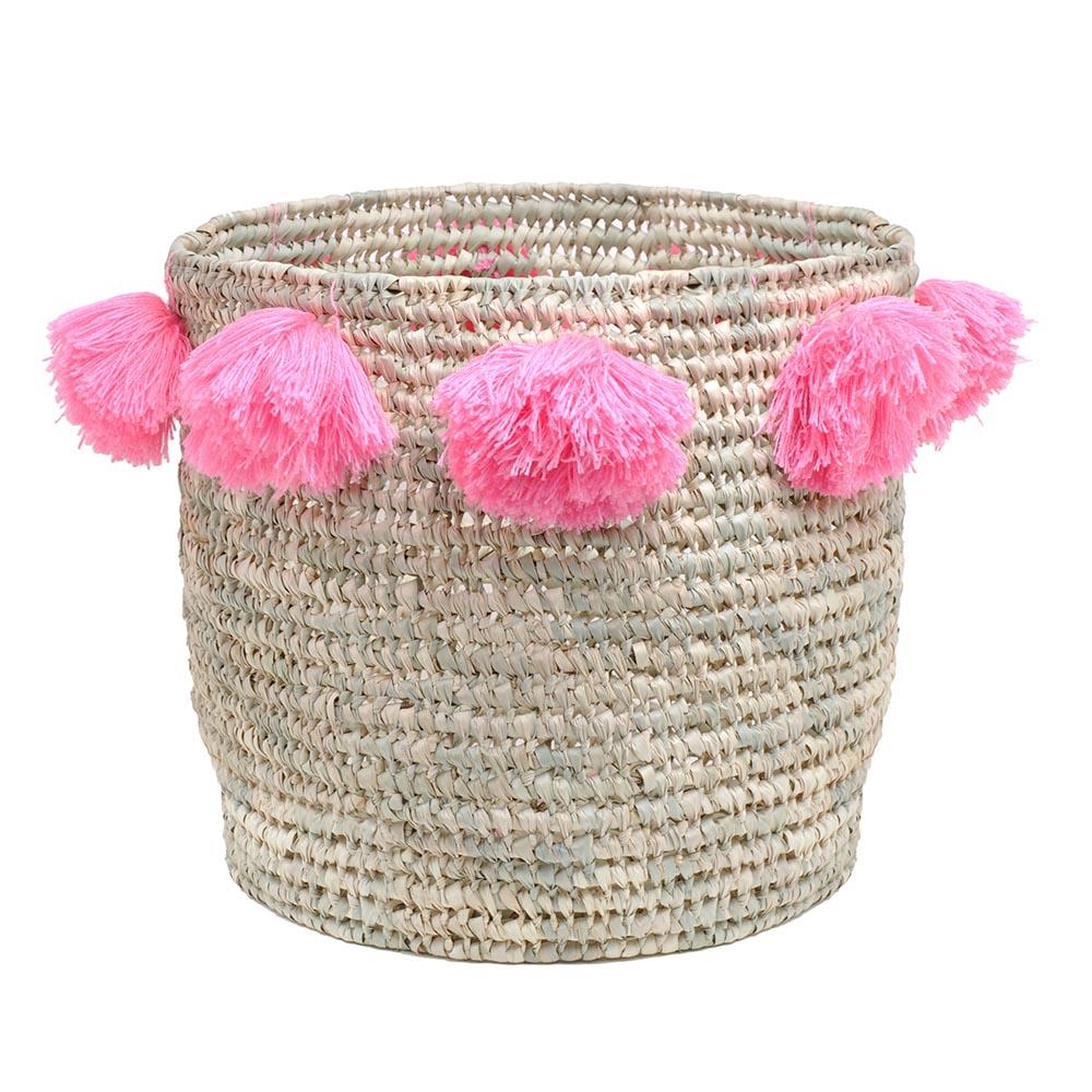 panier louis big pompons rose rose in april pour chambre enfant les enfants du design. Black Bedroom Furniture Sets. Home Design Ideas