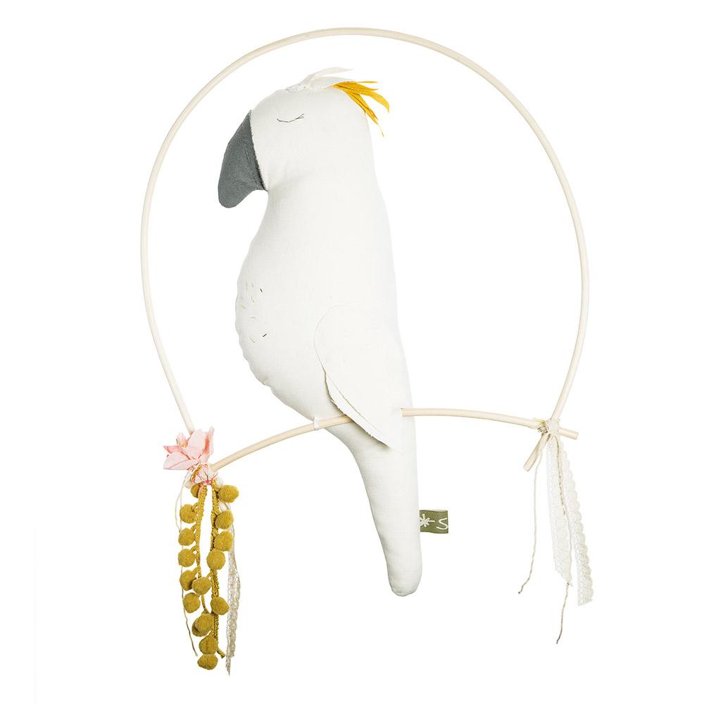 Oiseau d coratif nino blanc scala pour chambre enfant for Gravillon decoratif blanc