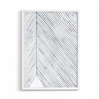 Sérigraphie Leaf lines Bleu / Nervures de feuille