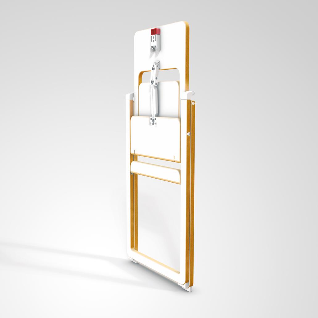 Merveilleux Chaise Murale Pliante #5: Chaise Haute Pliable - Blanc SUPAflat Pour Chambre Enfant - Les Enfants Du  Design