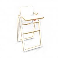 Chaise haute pliable - Blanc