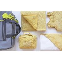 Pack valise de maternité Nuages - Moutarde