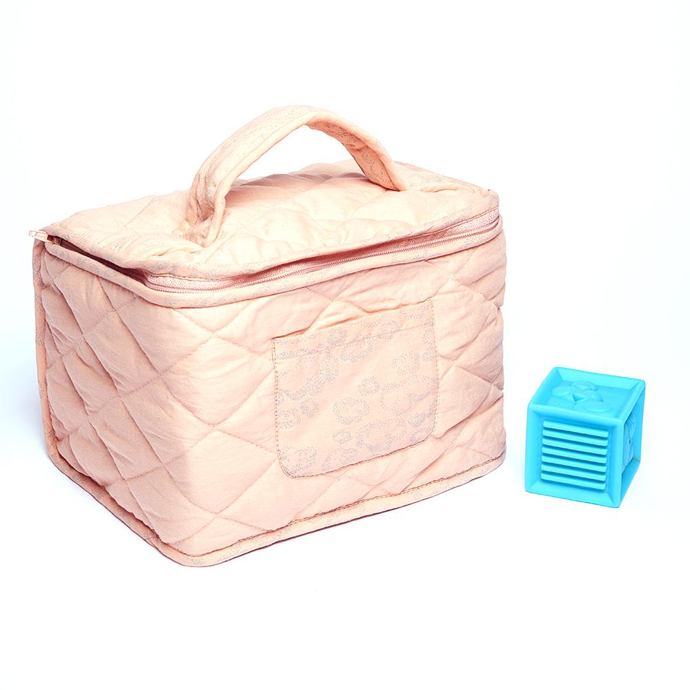 trousse de toilette b b nuages vieux rose sweetcase. Black Bedroom Furniture Sets. Home Design Ideas
