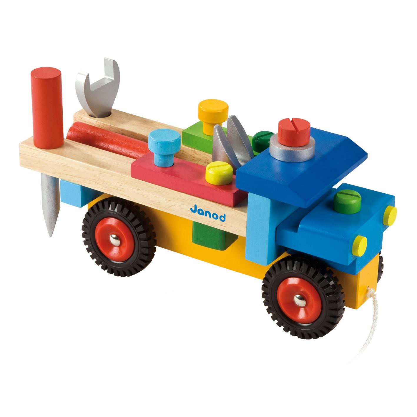 camion bricolo original janod pour chambre enfant les enfants du design. Black Bedroom Furniture Sets. Home Design Ideas