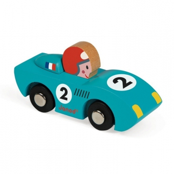 voiture en bois speed bleu janod pour chambre enfant les enfants du design. Black Bedroom Furniture Sets. Home Design Ideas