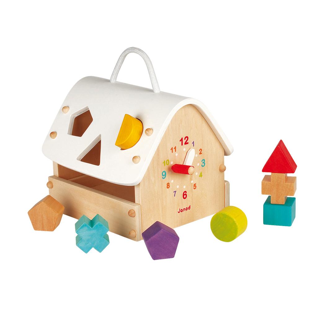 maison jeu de formes janod pour chambre enfant les. Black Bedroom Furniture Sets. Home Design Ideas