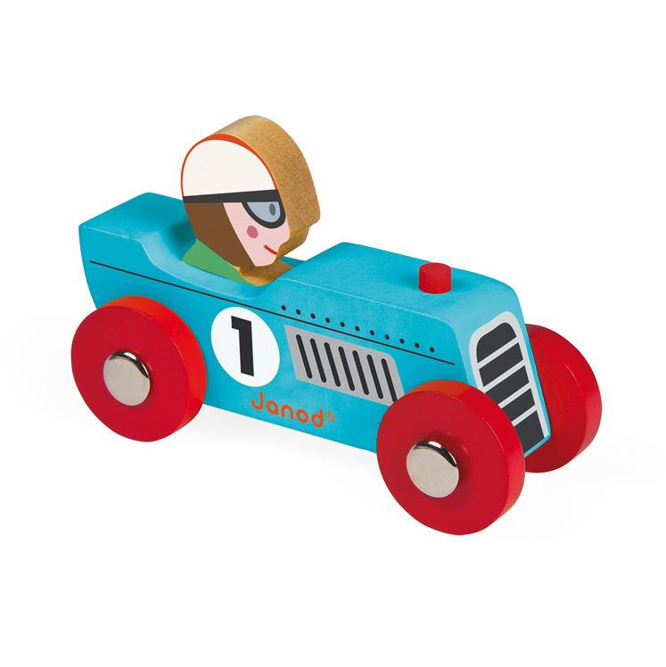 voiture en bois retromotor bleu janod pour chambre enfant les enfants du design. Black Bedroom Furniture Sets. Home Design Ideas