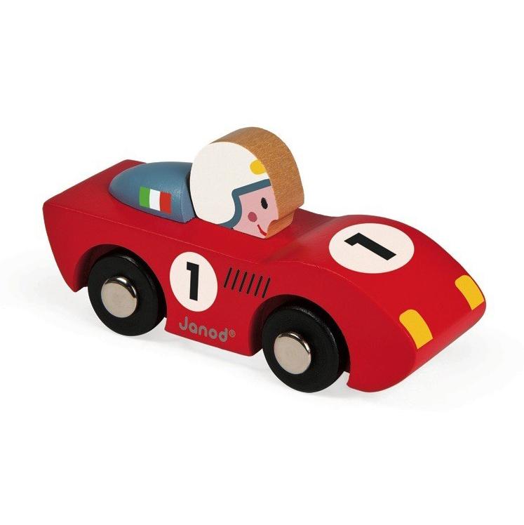 voiture en bois speed rouge janod pour chambre enfant les enfants du design. Black Bedroom Furniture Sets. Home Design Ideas