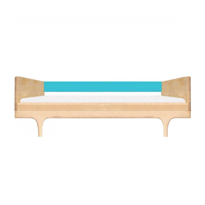 lit junior caravan divan avec barri re turquoise kalon. Black Bedroom Furniture Sets. Home Design Ideas