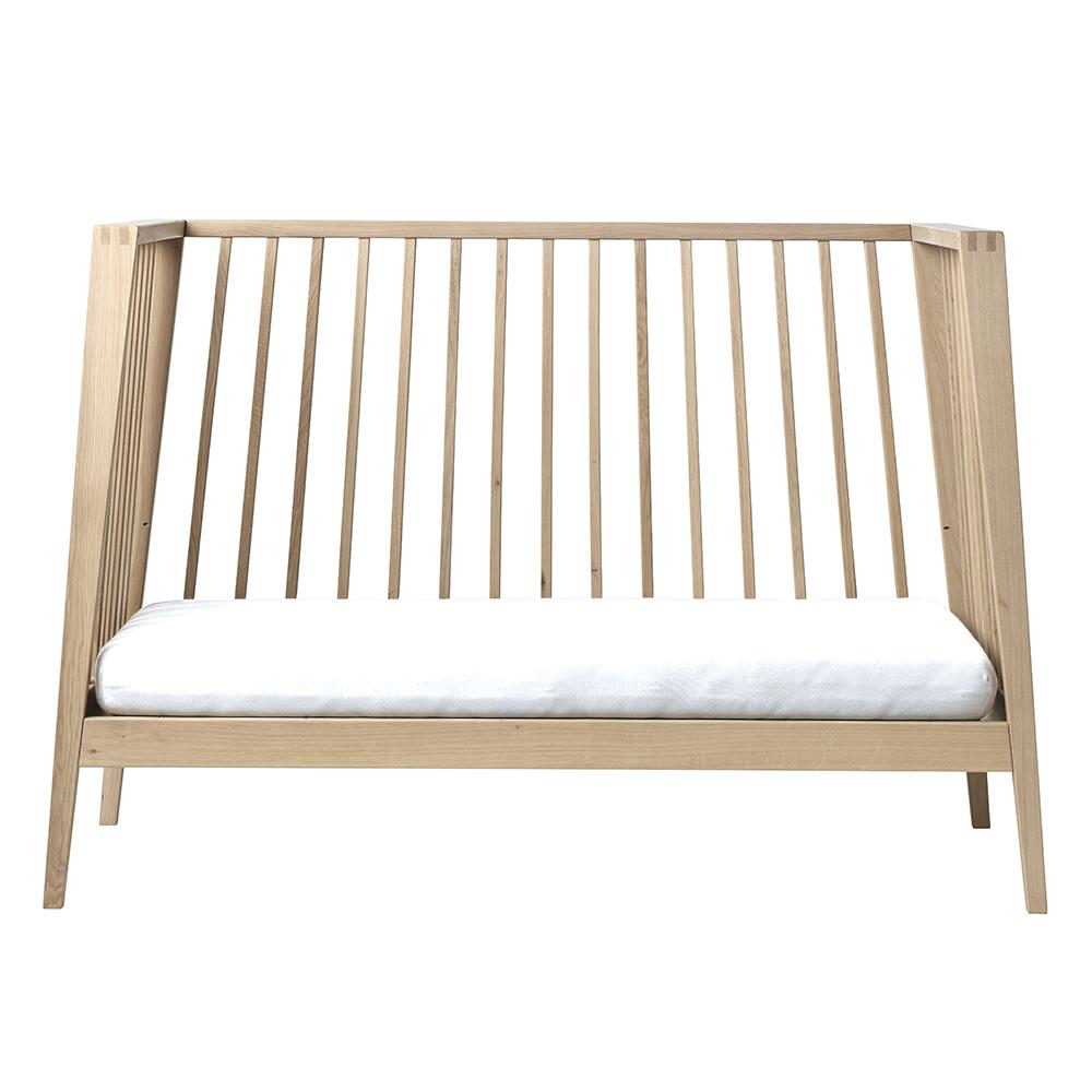 Lot de 2 draps housse pour lit b b linea blanc leander for Draps de lit
