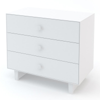 Commode Merlin Rhea 3 tiroirs - Blanc