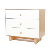 Commode Merlin Rhea 3 tiroirs - Bouleau