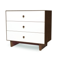 Commode Merlin Rhea 3 tiroirs - Noyer