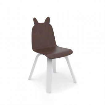 chaise lapin play noyer oeuf nyc pour chambre enfant les enfants du design. Black Bedroom Furniture Sets. Home Design Ideas