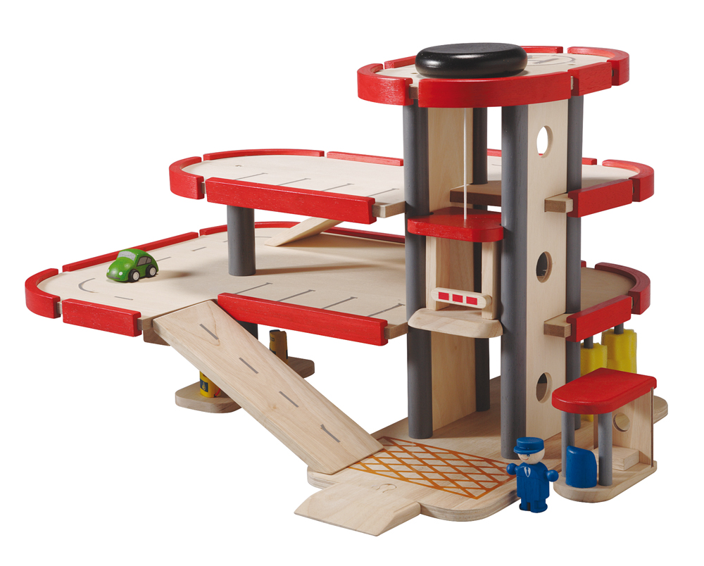 Wooden Parking Garage Toys 94