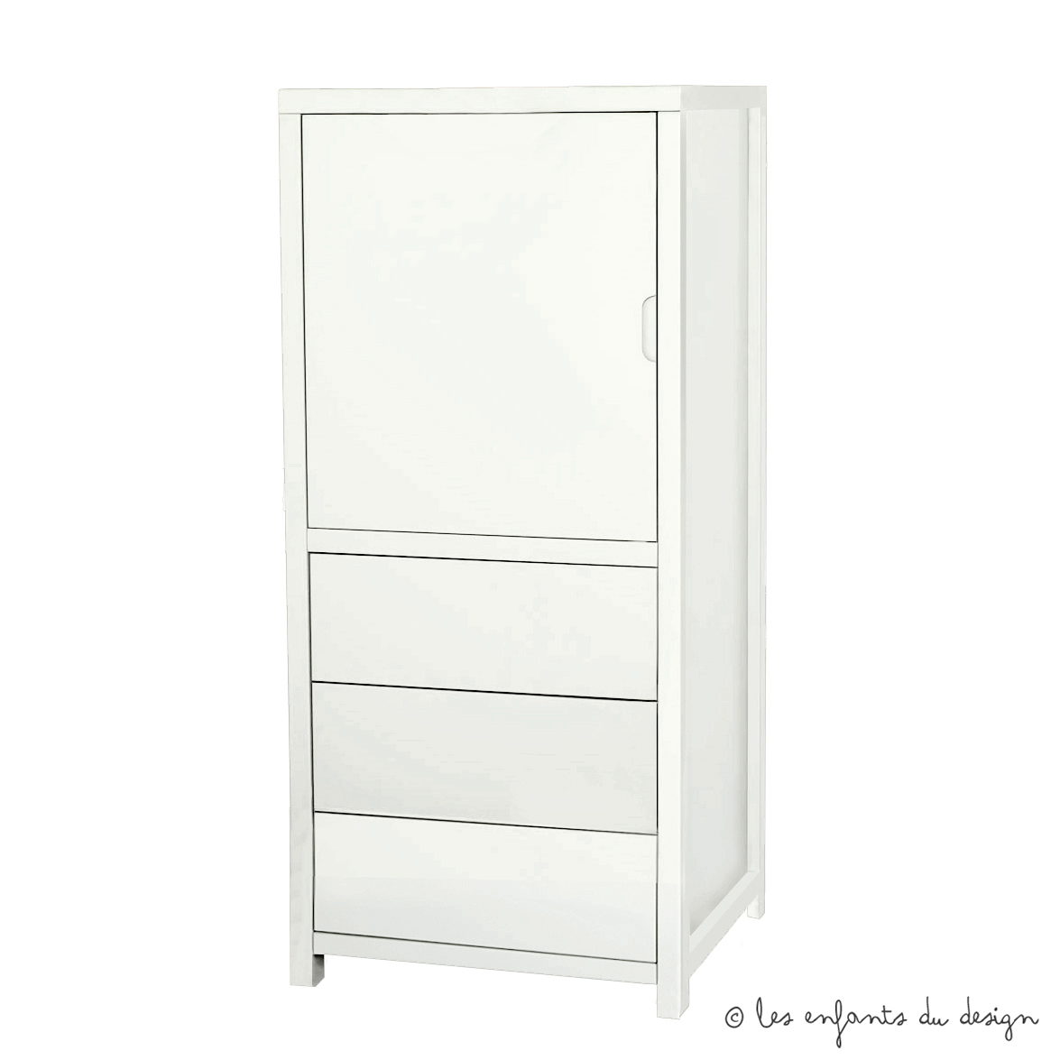 Armoire joy small blanc quax pour chambre enfant les for Armoire pour chambre enfant