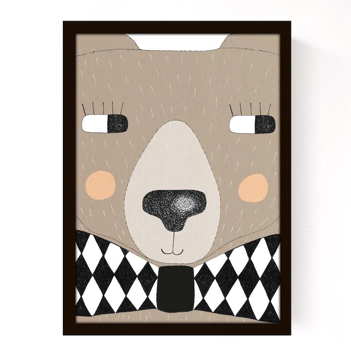 Affiche big bear seventy tree pour chambre enfant les - Affiche chambre enfant ...