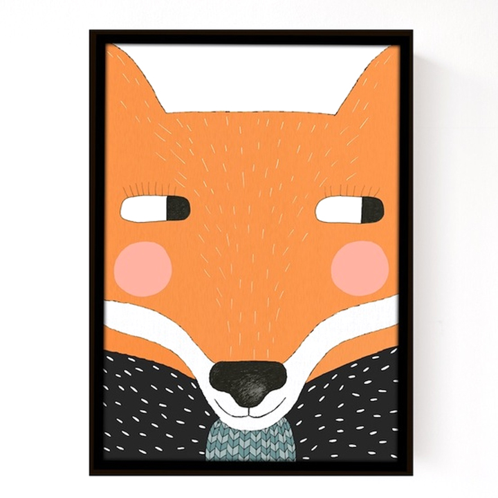 affiche big fox seventy tree pour chambre enfant les enfants du design. Black Bedroom Furniture Sets. Home Design Ideas