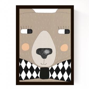 affiche big bear seventy tree pour chambre enfant les enfants du design. Black Bedroom Furniture Sets. Home Design Ideas