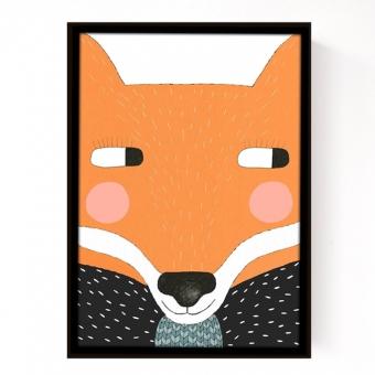affiche big fox seventy tree pour chambre enfant les enfants du design. Black Bedroom Furniture Sets. Home Design Ideas