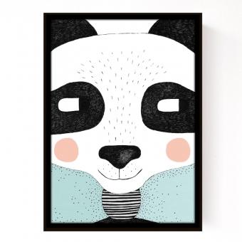 affiche big panda seventy tree pour chambre enfant les enfants du design. Black Bedroom Furniture Sets. Home Design Ideas
