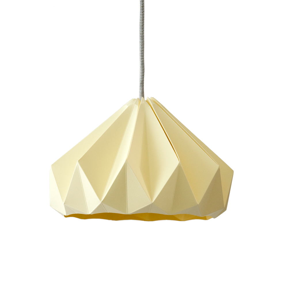 Suspension origami chestnut jaune p le studio snowpuppe for Suspension chambre d enfant