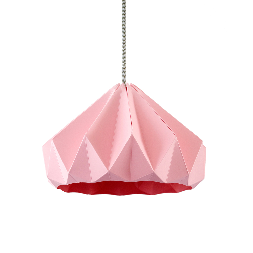 Suspension origami chestnut rose studio snowpuppe pour for Suspension chambre