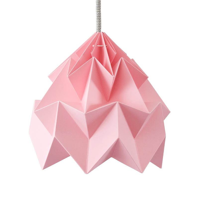suspension origami moth xl rose studio snowpuppe pour. Black Bedroom Furniture Sets. Home Design Ideas