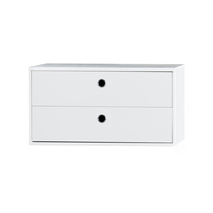 caisson 2 tiroirs 78 x 30 cm blanc string pour chambre enfant les enfants du design. Black Bedroom Furniture Sets. Home Design Ideas