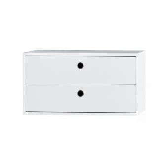 Caisson 2 tiroirs blanc string pour chambre enfant les for Petit caisson a tiroir