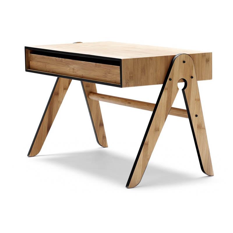 Bureau enfant geo noir we do wood pour chambre enfant for Table bureau noir