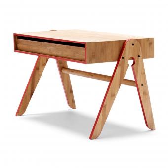 bureau enfant geo rouge we do wood pour chambre enfant. Black Bedroom Furniture Sets. Home Design Ideas