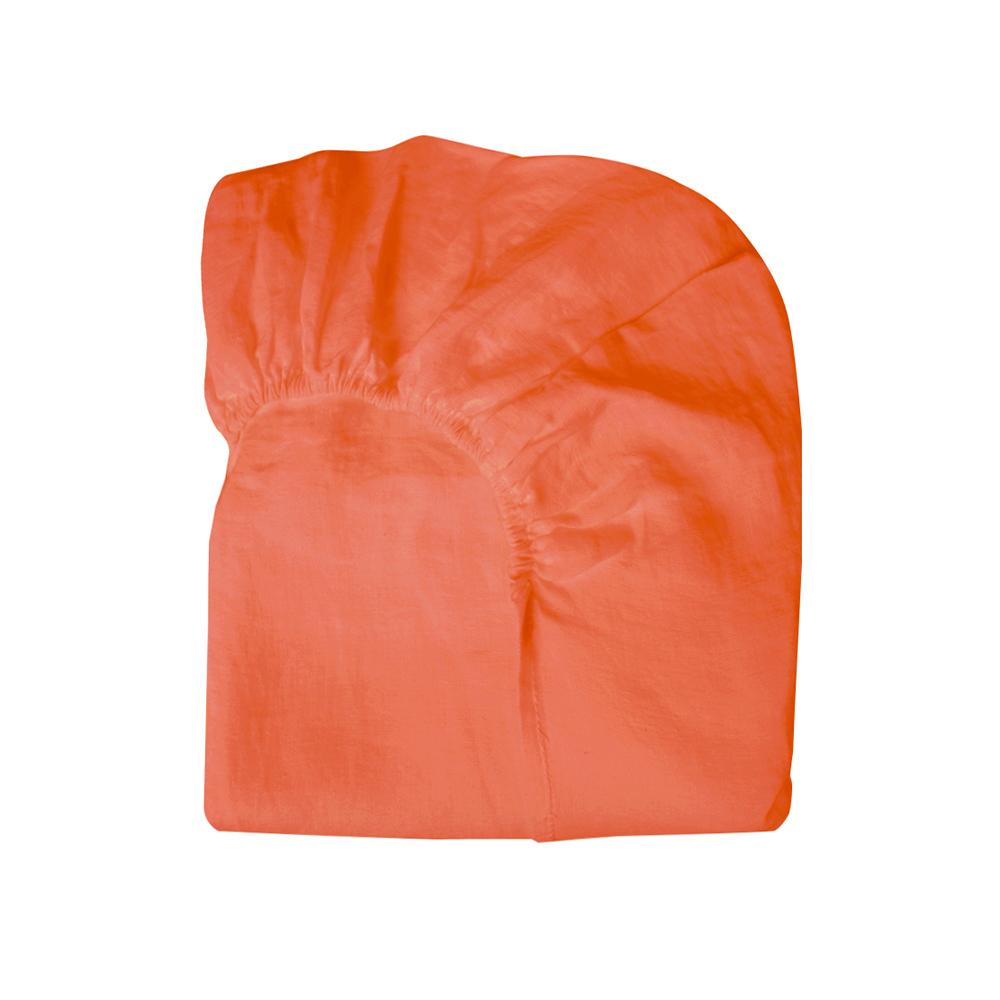 drap housse lin 90x140 lit bonnesoeurs corail bonnesoeurs pour chambre enfant les enfants du. Black Bedroom Furniture Sets. Home Design Ideas