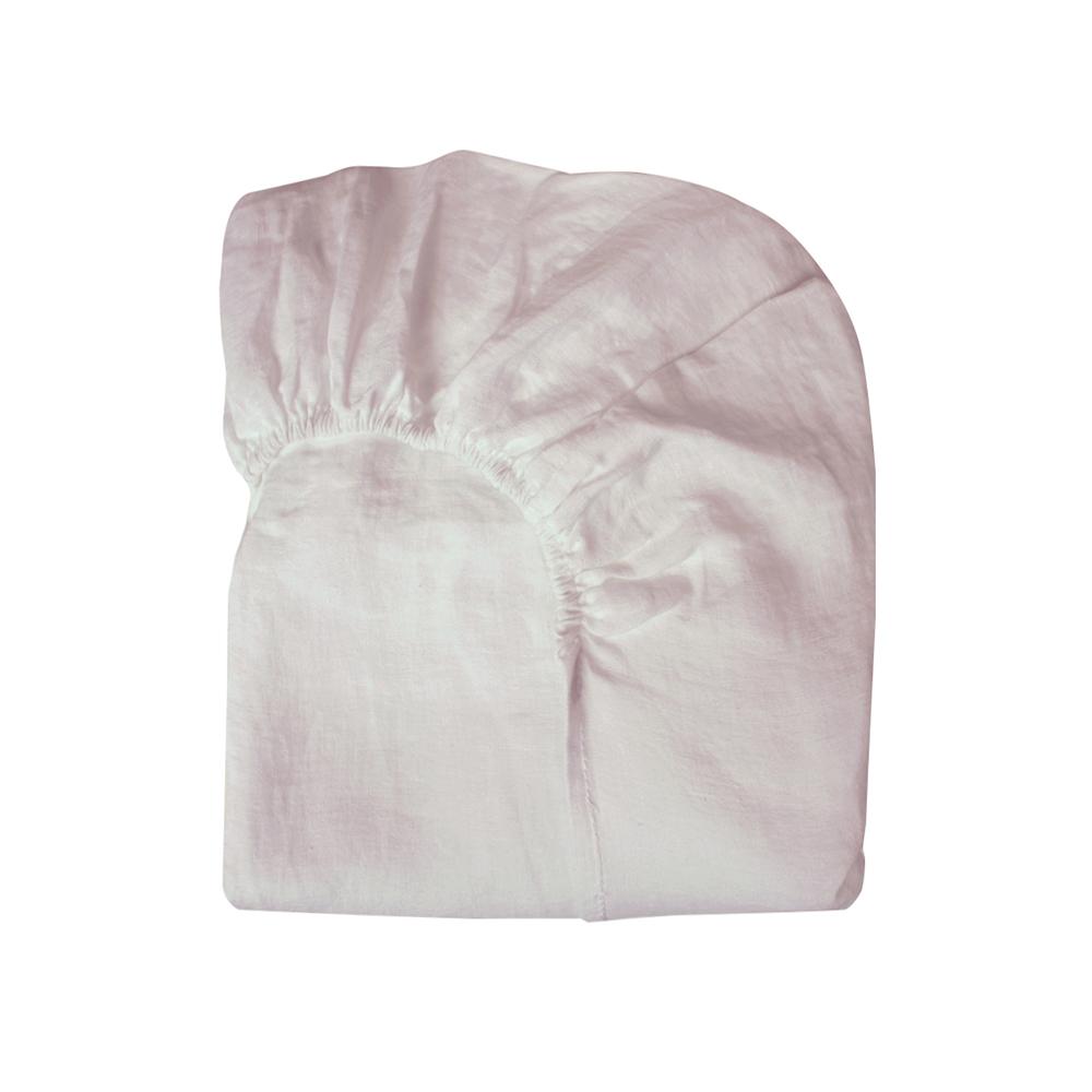 drap housse lin 90x200 rose p le lab pour chambre enfant. Black Bedroom Furniture Sets. Home Design Ideas
