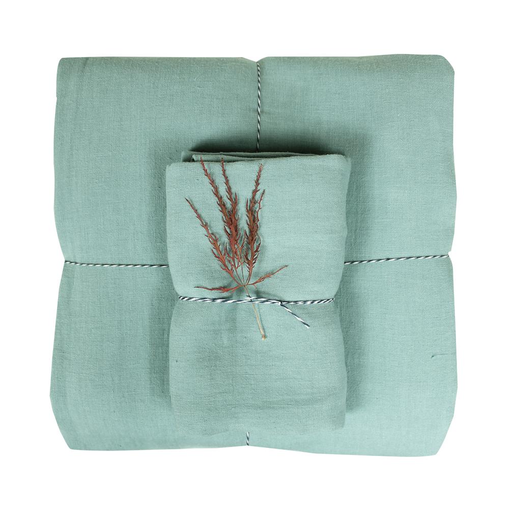 housse de couette lin 100 x 140 vert d 39 eau lab pour chambre enfant les enfants du design. Black Bedroom Furniture Sets. Home Design Ideas